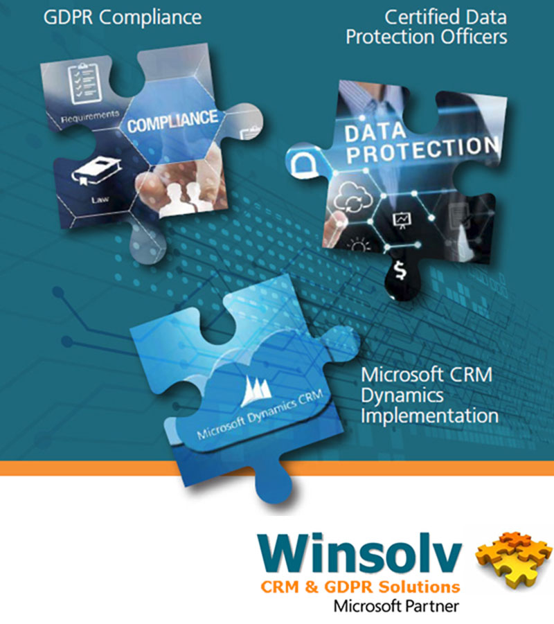 Winsolv CRM & GDPR Solution - GDPR Compliance/Consulting , Certified Data Protection Officers , Microsoft CRM Dynamics 365 Projects